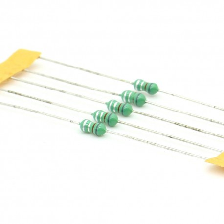 5x Inductance 0.68uH ±10% Axial - TOP-VIEW COILS