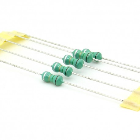5x Inductance 1.5uH ±10% Axial - TOP-VIEW COILS