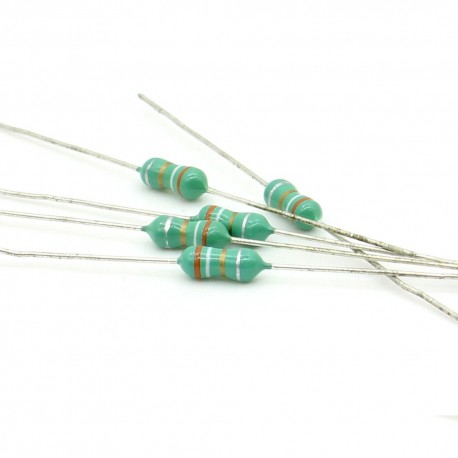 5x Inductance 3.9uH ±10% Axial - TOP-VIEW COILS