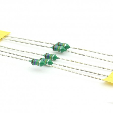 5x Inductance 2.7uH ±10% Axial - TOP-VIEW COILS