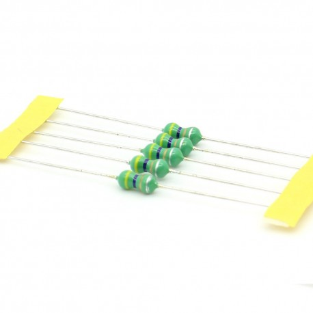 5x Inductance 4.7uH ±10% Axial - TOP-VIEW COILS