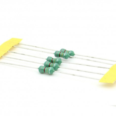 5x Inductance 8.2uH ±10% Axial - TOP-VIEW COILS