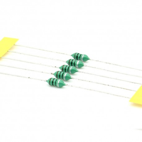 5x Inductance 10uH ±10% Axial - TOP-VIEW COILS