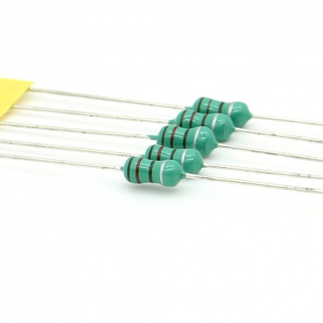 5x Inductance 120uH ±10% Axial - TOP-VIEW COILS