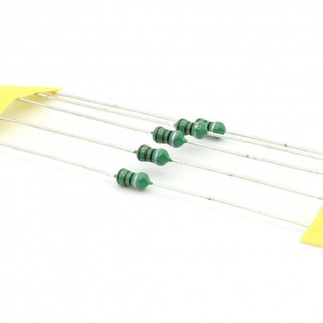 5x Inductance 22uH ±10% Axial - TOP-VIEW COILS