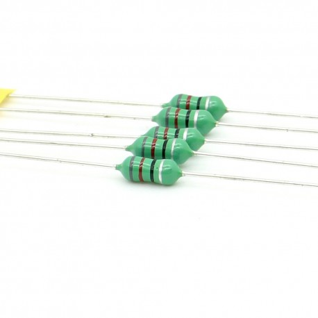 5x Inductance 82uH ±10% Axial - TOP-VIEW COILS