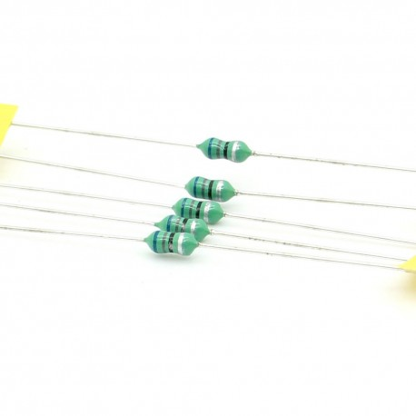 5x Inductance 68uH ±10% Axial - TOP-VIEW COILS
