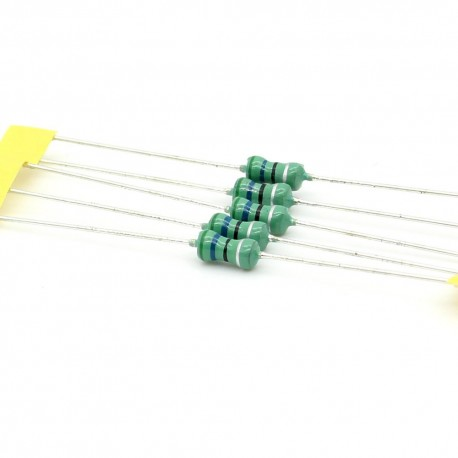 5x Inductance 56uH ±10% Axial - TOP-VIEW COILS