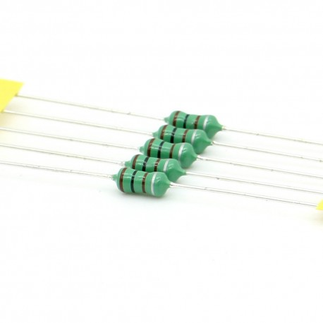 5x Inductance 100uH ±10% Axial - TOP-VIEW COILS