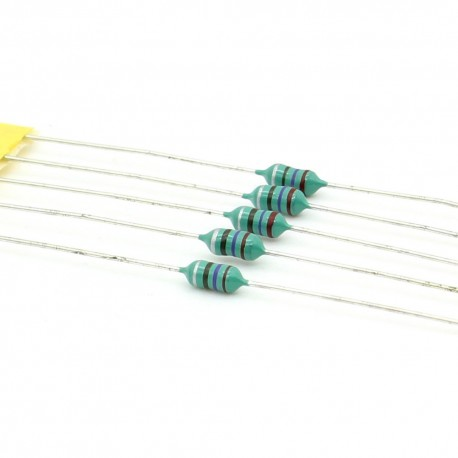 5x Inductance 270uH ±10% Axial - TOP-VIEW COILS
