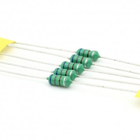5x Inductance 680uH ±10% Axial - TOP-VIEW COILS