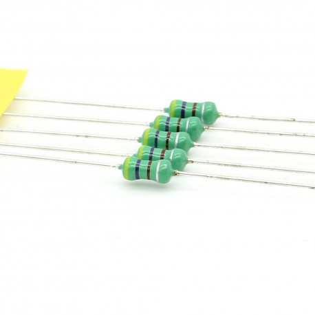 5x Inductance 470uH ±10% Axial - TOP-VIEW COILS