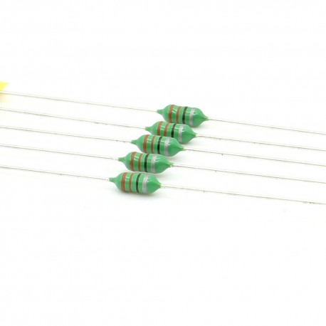 5x Inductance 330uH ±10% Axial - TOP-VIEW COILs