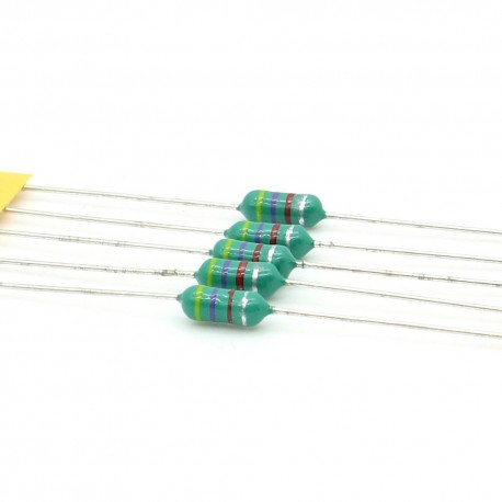5x Inductance 4700uH ±20% Axial - TOP-VIEW COILS