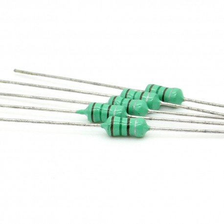 5x Inductance 220uH ±10% Axial - TOP-VIEW COILS
