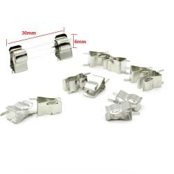 5x support Porte fusible 6x30mm a souder - 250v 138pofus009