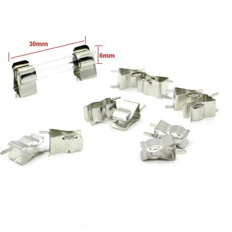 5x support Porte fusible 6x30mm a souder - 250v