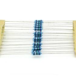 20x Résistances métal ¼W - 0.25w - 1% - 7.5ohm - 7R5 - 140res232