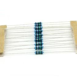20x Résistances métal ¼W - 0.25w - 1% - 15ohm - 15R - 140res235