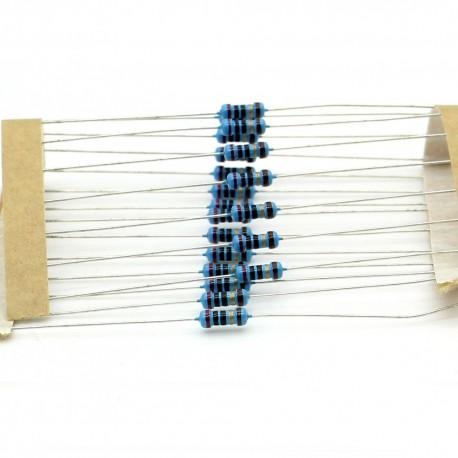 20x Résistances métal ¼W - 0.25w - 1% - 20ohm - 20R