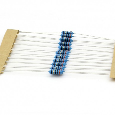 20x Résistances métal ¼W - 0.25w - 1% - 30ohm - 30R