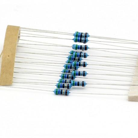 20x Résistances métal ¼W - 0.25w - 1% - 56ohm - 56R