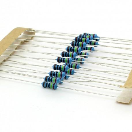 20x Résistances métal ¼W - 0.25w - 1% - 240ohm - 240R