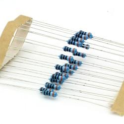 20x Résistances métal ¼W - 0.25w - 1% - 390ohm - 390R - 143res257