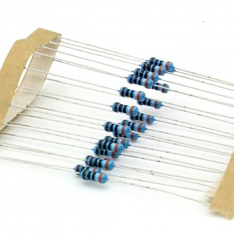 20x Résistances métal ¼W - 0.25w - 1% - 390ohm - 390R