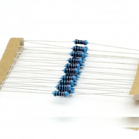 20x Résistances métal ¼W - 0.25w - 1% - 750ohm - 750R