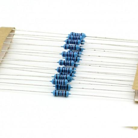 20x Résistances métal ¼W - 0.25w - 1% - 1.2kohm - 1.2k ohm
