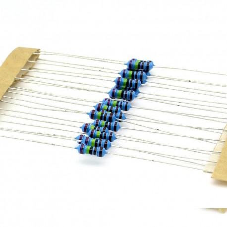 20x Résistances métal ¼W - 0.25w - 1% - 2.4kohm - 2.4k ohm