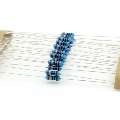 20x Résistances métal ¼W - 0.25w - 1% - 3.9kohm - 3.9k ohm