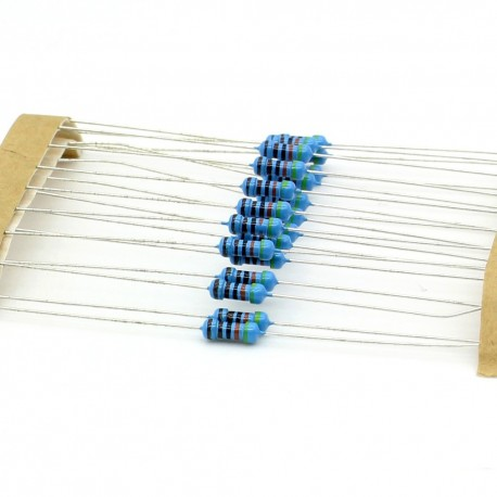 20x Résistances métal ¼W - 0.25w - 1% - 4.3kohm - 4.3k ohm