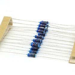20x Résistances métal ¼W - 0.25w - 1% - 6.2kohm - 6.2k ohm - 145res274