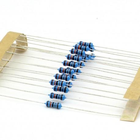 20x Résistances métal ¼W - 0.25w - 1% - 180kohm - 180k ohm