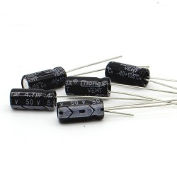 5x Condensateur chimique radial 4.7uF 50V 5x11mm - 150con327