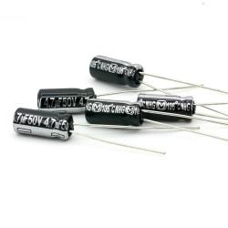 5x Condensateur Panasonic 4.7uF 50V - NHG 5x11mm - 154con347