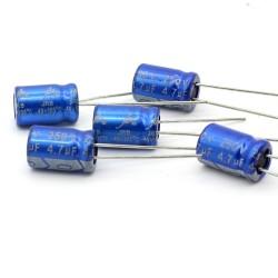 5x Condensateur JB Capacitors 4.7uF 250V 8x12mm -154con349