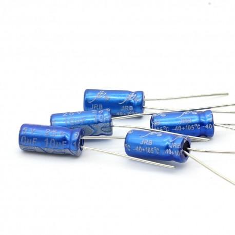 5x Condensateur electrolitique JB Capacitors radial 10uF 25V 5x11mm