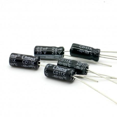 5x Condensateur electrolitique radial 22uF 16V 5x11mm