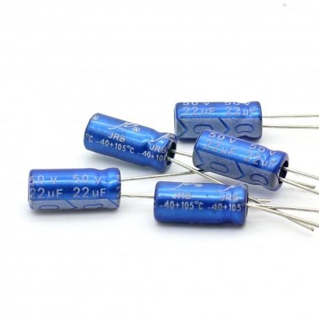 5x Condensateur electrolitique JB Capacitors radial 22uF 50V 5x11mm