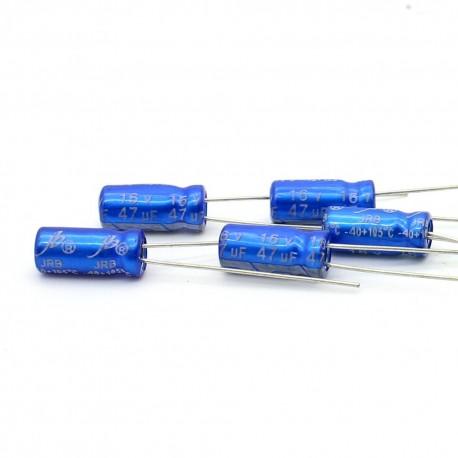 5x Condensateur electrolitique JB Capacitors radial 47uF 16V 5x11mm