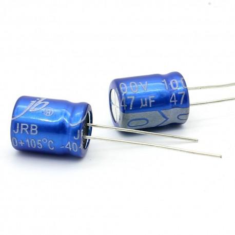 2x Condensateur electrolitique Jb capacitors 47uF 100V 10x12.5mm