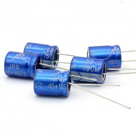 5x Condensateur electrolitique JB capacitors 150uF 50V 10x12mm