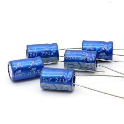 5x Condensateur JB capacitors 220uF 25V 8x11mm -159con385