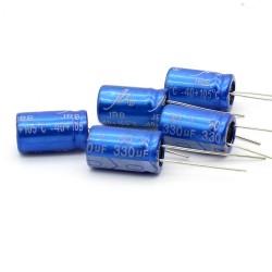 5x Condensateur JB capacitors 330uf 50v 10x16mm -160con388