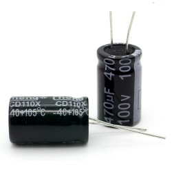Condensateur electrolitique radial 470uF 100V 16x26mm - 161con392