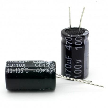 5x Condensateur electrolitique radial 470uF 100V 16x26mm