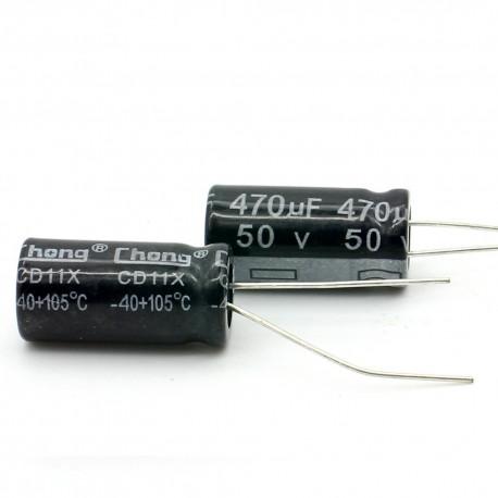 2c Condensateur electrolitique radial 470uF 50V 10x20mm